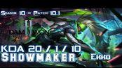 [LOL第一视角]DWG Showmaker EKKO vs SEJUANI Mid - Patch 10.1 KR Ranked