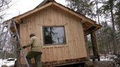 [肖恩的木屋]152.淋浴日在木屋的原木桑拿。