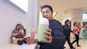 保定万博广场5层,10几平米的网红奶吧,喝一杯饮料多少钱