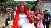 广西玉林婚礼,新娘从小在农村长大,穿上婚纱很漂亮