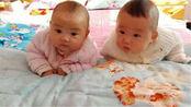 妈妈了生龙凤胎,哥哥吃奶粉妹妹吃母乳,3个月后两个宝宝差距大