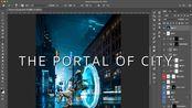 Photoshop修图案例含说明(包含复杂背景下抠毛发、怎样做一个透视合理的元素、黑白灰在不同模式下的区别等)-The portal of city