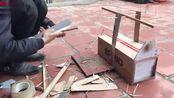农村大叔用纸箱制作捕鼠器,来抓院里老鼠,真是太有效了