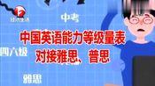 中国英语能力等级量表对接雅思,四级对应4.5分、八级对应8分!