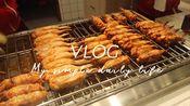 [moon vlog#1]一个人怎么过周末/鸡翅包饭/中科大校园/买花/书店