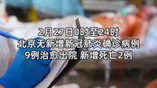 2月27日0时至24时 北京无新增新冠肺炎确诊病例 新增死亡2例