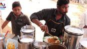 【印度糊糊】鸡肉饭鱼肉饭仅需人民币6块钱 海德拉巴街头快餐 印度街头美食