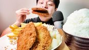 【yuma】とんかつ4枚【 eating sounds 咀嚼音】(2020年3月3日17时43分)