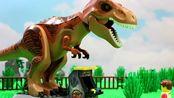 乐高拉尔夫到游乐园,身高限制无缘过山车,侏罗纪恐龙游戏中圆梦