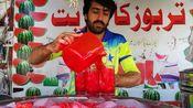 印度街头常见的饮料:古法·手工冰镇西瓜汁