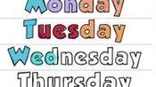 做美国小学生作业学英语,一周中的7天,单词拼写,背单词