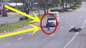 可怕!追风男子被撞后再遭车碾,监控拍下惊魂5秒!