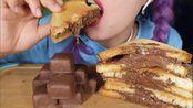 【巧克力酱合集6】巧克力夹心脆皮土司;巧克力干蛋糕