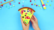 时尚手工DIY:自制披萨样式的笔袋,感觉外形十分有趣。