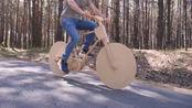 国外小哥制作纯木自行车,车子看上去像是未来产物,这波操作太硬核了