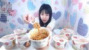 韩国大胃王卡妹一顿饭吃9桶快餐, 吃这么多的美女你敢要吗