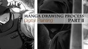 漫画绘制过程-角色绘画PartⅡ /延时录屏 Manga page drawing process