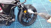洗个摩托车划算,最后居然才1.42元,这种自助洗车机超方便!