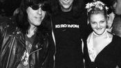 Drew Barrymore and Jane Pratt in Marky Ramone circa 1995.