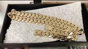 土豪熔化4斤金子,就为制作一条大金项链,这戴着估计要得颈椎病
