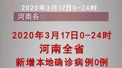 3月17日0-24时,河南省无新增本地新冠肺炎确诊病例。