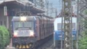 [火车][会车]HXD3C+25G[K1174]达州-惠州&SS7C+25G[1063]哈尔滨西-重庆 达州站5站台发车