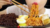 【大吃一斤 - MINEE EATS】 - Ghost Pepper 魔鬼火鸡面 三养三倍辣迷你火鸡面 溏心蛋 蜂巢糕 腌黄萝卜