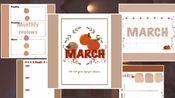 Ipad3月Bujo子弹笔记|3月电子手帐排版|和我一起做计划|免费可打印模版|手帐规划