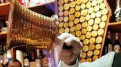 饮品师11秒调制一杯火焰饮品,冰与火的结合