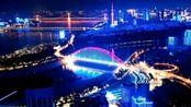 航拍武汉晴川桥夜景
