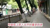 3月28日武汉市江夏区街道今天比昨天热闹多了