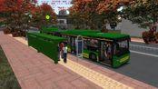 OMSI2(巴士模拟2)斯堪尼亚铰接式公交车行驶在美丽的梧州(中)