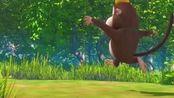 熊熊乐园第三季:小朋友的风筝被大风吹走了。