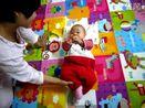 学说话儿-然然宝宝三个多月(2010年10月10日)
