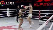中国小将飞膝ko泰拳王,将对手打得满地打滚大获全胜