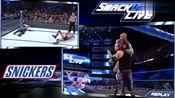 WWE精彩回首:科尔宾被迪安吸引注意力,兰迪奥顿顺势使出RKO!