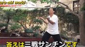 中国武术和空手道中的三战。Time travel? Same kata in Karate and Kungfu.