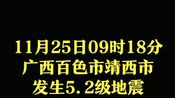 揪心!广西百色市靖西市发生5.2级地震,希望都能平安!