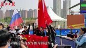 夺冠啦!军事五项障碍跑接力赛中国女队稳夺金牌