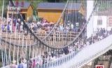[中国新闻]辽宁本溪:东北跨度最长的玻璃吊桥试营业