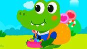 宝宝巴士:爱吃糖果的小鳄鱼,超级萌萌哒!