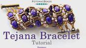 Tejana Bracelet - DIY Jewelry Making Tutorial by PotomacBeads