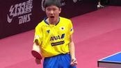 马龙2-4遗憾出局!张本智和疯狂怒吼,首次进入世界杯决赛