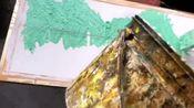 硅藻泥山水画样板制作中
