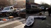 石家庄一奥迪与货车相撞后 撞向集市致2死6伤