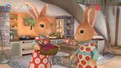 比得兔:默普西她们刚刚才干净的地板,结果就被比得弄脏了!