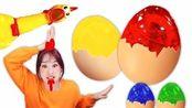嘿基尼秘密之门:彩红颜色的鸡蛋见过吗?基尼姐姐的重播秀来啦~
