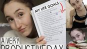 【holly 英字】制定目标的高效一天/SETTING MY GOALS & GETTING PRODUCTIVE - A UK DAY