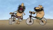 俩野人互相较劲,动手制作山地车,最后竟做出方形车轮?!