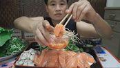 【泰国吃播】汤姆泰——三文鱼~牡蛎~撇菜根~鱼腥草~